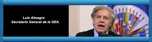 """VENEZUELA: Luis Almagro condenó el envío de buques iraníes a Venezuela: """"Es un atentado contra la paz y un acto de provocación"""". Almagro calificó de repudiable la presencia militar y de inteligencia por parte del régimen persa en el hemisferio occidental.     CubaDemocraciayVida.org                                                                                                                                                       web/folder.asp?folderID=136"""