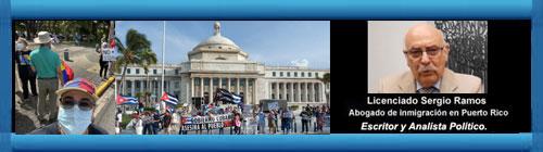FOTORREPORTAJE: Los pasados días 14/7/21 se realizó en el Parque Hostos-Martí en San Juan, P. Rico una protesta en solidaridad con las protestas del pueblo cubano y el 18/7/21 se efectuó otra de solidarida frente al Capitolio de San Juan-P. Rico. Por S.R.     CubaDemocraciayVida.ORG                                                                                           web/folder.asp?folderID=136
