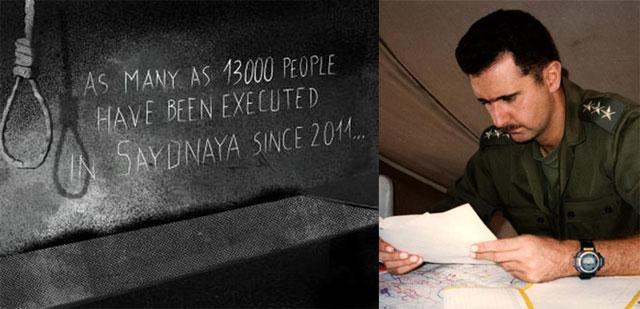 Siria: el régimen de Bashar al Assad ahorcó a 13.000 personas en cinco años en una cárcel gubernamental. cubademocraciayvida.org http://cubademocraciayvida.org/web/folder.asp?folderID=136