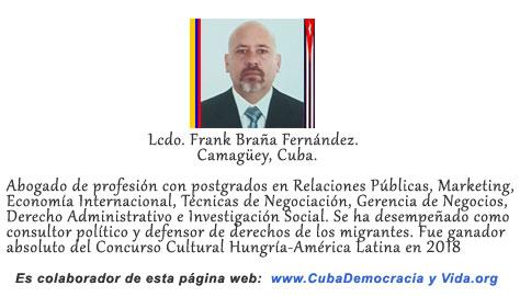 MÁS ALLÁ DE UNA TÁNGANA. Por el licenciado Frank Braña Fernández.                 cubademocraciayvida.org                                                                                                      web/folder.asp?folderID=136