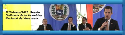 VENEZUELA VIDEO EN VIVO: Sesión Ordinaria de la Asamblea Nacional con el presidente legítimo de la Asamblea Nacional y de Venezuela. Miércoles 12 de Febrero 2020. cubademocraciayvida.org web/folder.asp?folderID=136