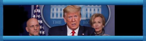 EE.UU: Donald Trump en una conferencia de prensa en la Casa Blanca, anunció que tratarán a los pacientes de Coronavirus Covid-19 con drogas que están demostrando resultados muy alentadores. cubademocraciayvida.org web/folder.asp?folderID=136