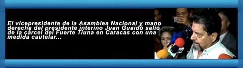 VENEZUELA: Luego de someterlo a 132 días en prisión, el régimen de Maduro excarceló al diputado venezolano Edgar Zambrano. El vicepresidente de la Asamblea Nacional y mano derecha del presidente interino Juan Guaidó. cubademocraciayvida.org web/folder.asp?folderID=136