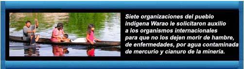 El desesperado grito de los Waraos venezolanos para que la comunidad internacional no los deje morir de hambre y enfermedades. Por Sebastiana Barráez. Infobae.   CubaDemocraciayVida.org                                                                                                                                                                                                 web/article.asp?artID=45069