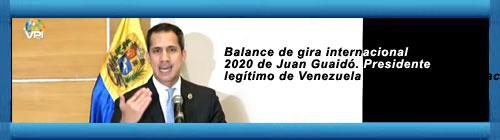 VIDEO EN VIVO: Balance de gira internacional 2020 de Juan Guaidó. Presidente legítimo de Venezuela y de la Asamblea Nacional. cubademocraciayvida.org web/folder.asp?folderID=136