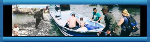 VIDEO: La Policía colombiana rescata a un matrimonio cubano y su pequeño hijo en la selva del Darién. Por Juan Arturo Gómez Tobón. www.cubademocraciayvida.org web/folder.asp?folderID=136