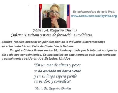 El cubano y su situación. Por Marta M. Requeiro Dueñas. cubademocraciayvida.org web/folder.asp?folderID=136