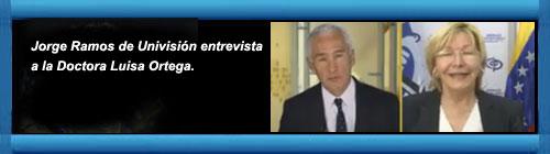 VENEZUELA: Fiscal general de Venezuela, la Doctora Luisa Ortega, critica a Maduro y defiende a Chavez en entrevista con Jorge Ramos de Univisión. cubademocraciayvida.org web/folder.asp?folderID=136