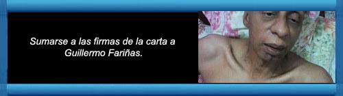 """DOCUMENTO ENVIADO A """"CDYVIDA.ORG"""" POR MARTHA BEATRIZ ROQUE: Sumarse a las firmas de la carta a Guillermo Fariñas. cubademocraciayvida.org web/folder.asp?folderID=136"""