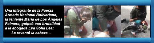 VENEZUELA VIDEO: Abogada venezolana brutalmente golpeada por la Guardia Nacional está presa y amenazada de juicio en tribunal militar. La indignación estalló en el país cuando se hizo viral un video en el que se ve cómo una teniente le revienta la cabeza.       cubademocraciayvida.org                                                                                                                                                                    web/folder.asp?folderID=136